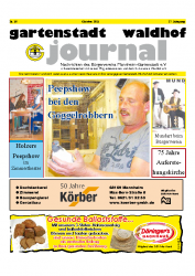 Gartenstadt Waldhof Journal 10/2011