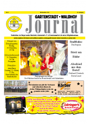 Gartenstadt Waldhof Journal  Dezember 2012