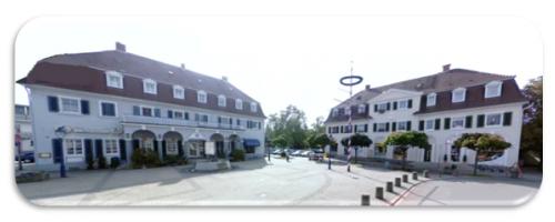 """Das """"Herz"""" der Gartenstadt, der Freyaplatz"""