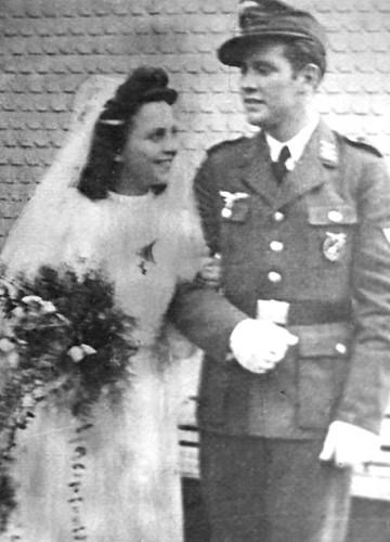 Luise und Walter Pahl bei ihrer Hochzeit