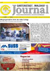 Gartenstadt Waldhof Journal Juni 2019