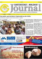 Gartenstast Waldhof Journal Juli 2019
